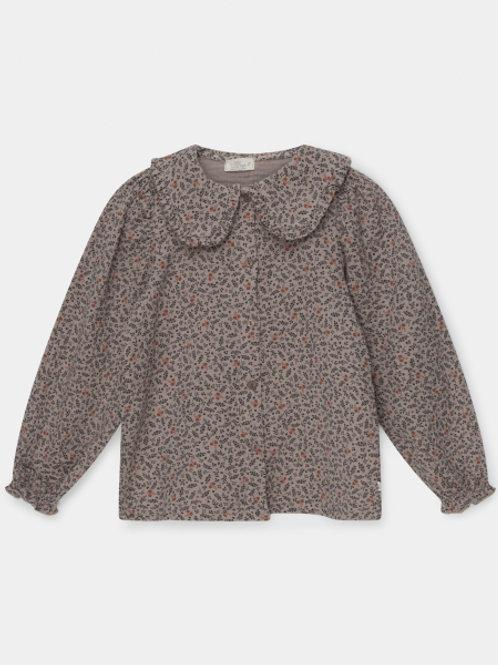 organic girls printed blouse TAUPE