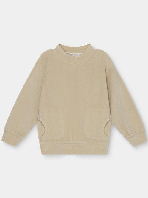 organic kids velour sweatshirt