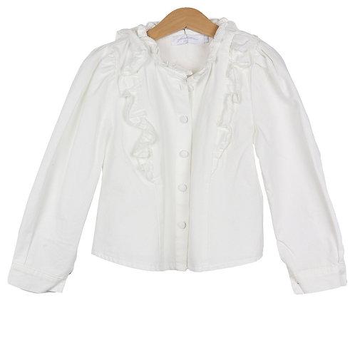 KIDS Ruffle blouse wit