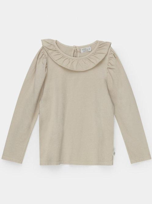 organic girls t-shirt frill collar