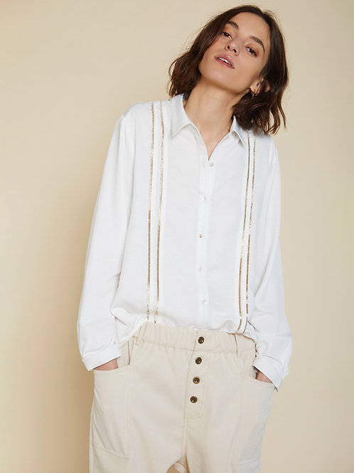 Blouse touch of gold