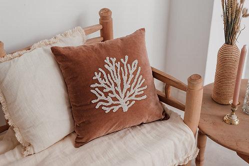Velvet cushion coral