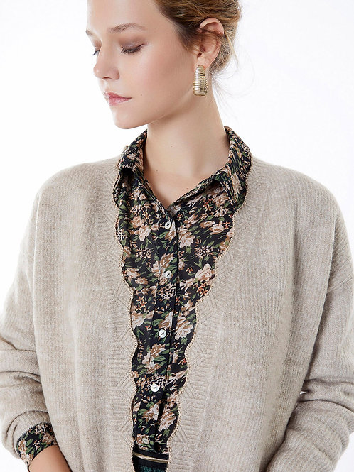 VEST Taupe & Gold