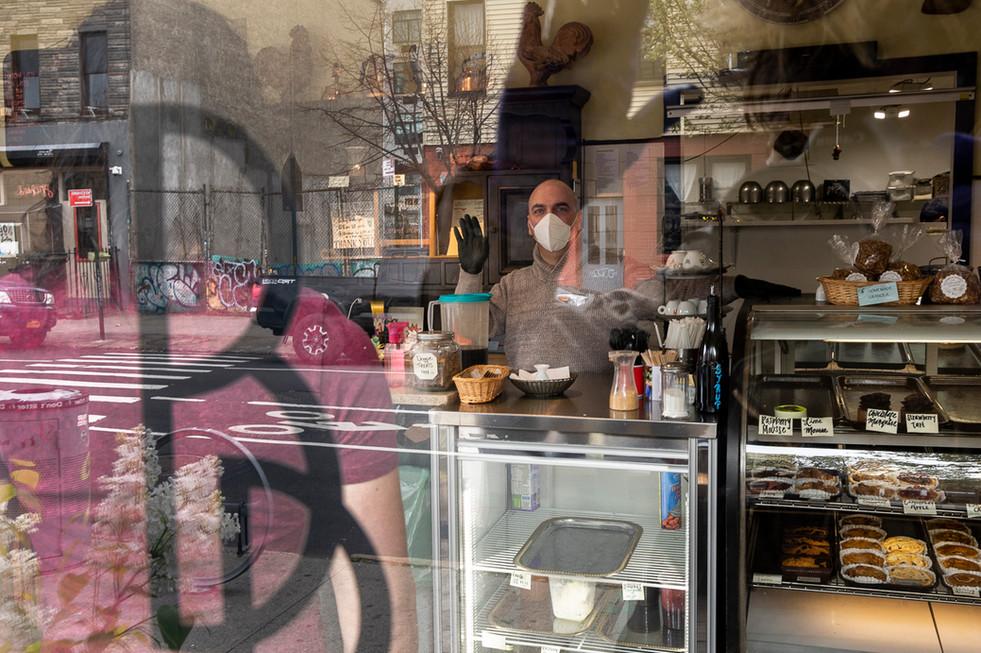 Steve Sciacca, Bushwick Bakery, Bushwick, Brooklyn, NY, April 10, 2020