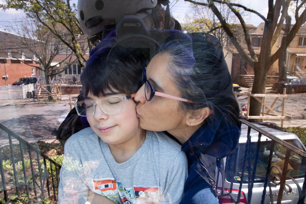 Cibele Vieira & Sam Vieira-Fox, Glendale, Queens, NY, April 25, 2020