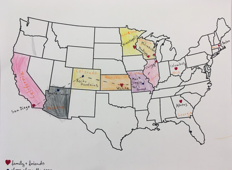 Geography: Virtual Spring Break Road Trip across the U.S.A. (or other country/continent)