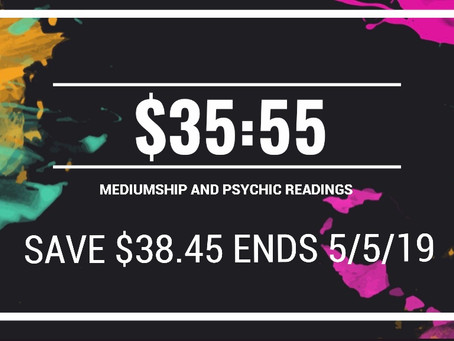 🔮💖😇30 min readings $35.55 save $39.45 until 5/5/19