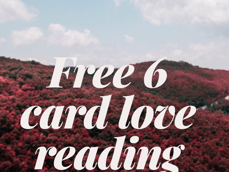 Free 6 Card Romance reading with purchase 💕