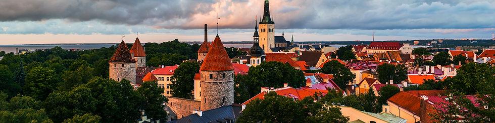 Tallinn, Estonia. Aerial view of old tow