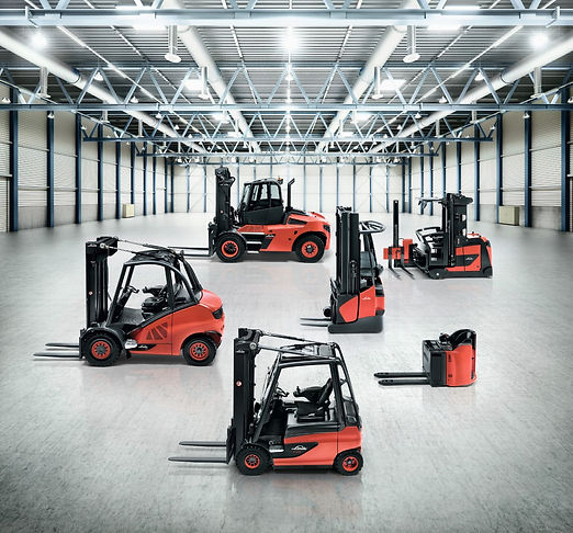 Range of Material Handling Equipment and Forklifts from Linde available at Bin Salim Oman