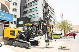 The PowerROC T35 Epiroc Drill Rig parked at Bin Salim Headquarters