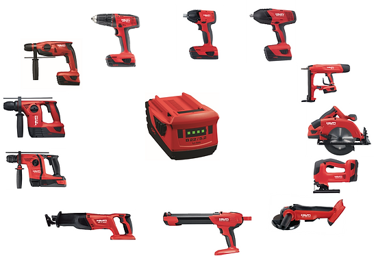 Hilti Cordless Systems include cordless rotary hammers, drills, impact drivers and wrenches