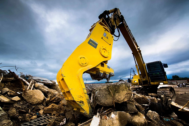Epiroc Excavator on a site in action
