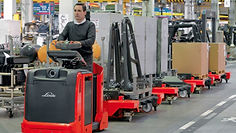Linde Material Handling and Bin Salim offers Logistics Trains and other Forklifts