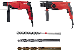 Rotary Hammers for Drilling and Demolition