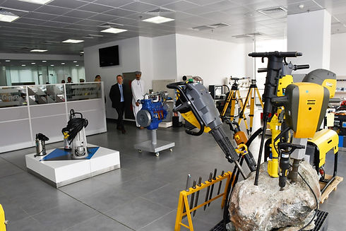 Atlas Copco Showroom in Bin Salim Enterprises for Portable Compressors and other solutions