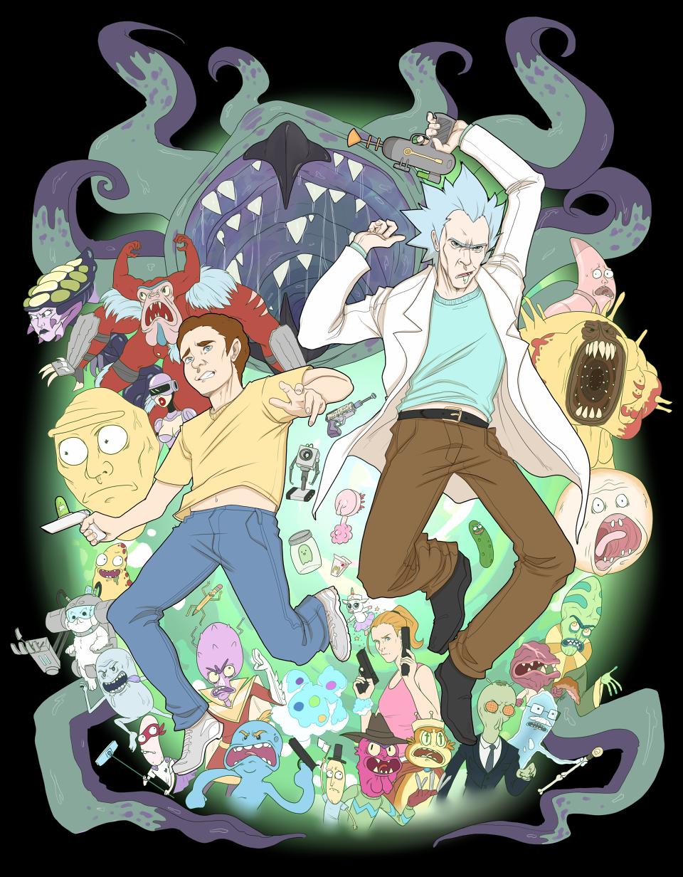 Rick and Morty Shirt Design