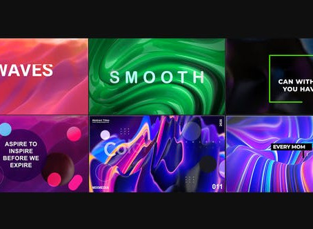 VIDEOHIVE WAVES ABSTRACT TITLES