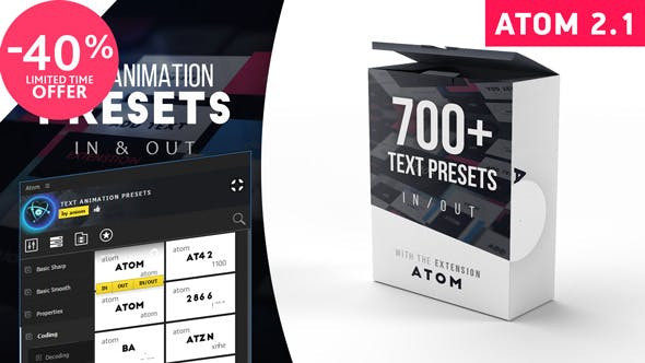 VIDEOHIVE TEXT PRESETS | ATOM