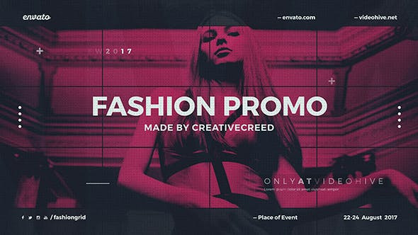 VIDEOHIVE FASHION EVENT PROMO / DYNAMIC OPENER / CLOTHES COLLECTION / GRID SLIDESHOW / BACKSTAGE
