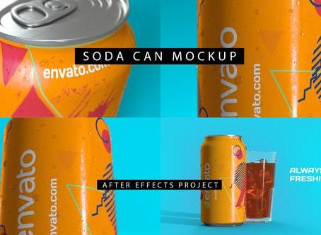 VIDEOHIVE SODA CAN MOCKUP 4K
