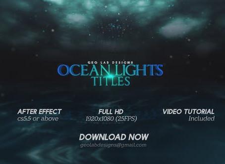 VIDEOHIVE OCEAN LIGHTS TITLES L SEA LIGHTS SLIDESHOW L OCEAN WAVES OPENER