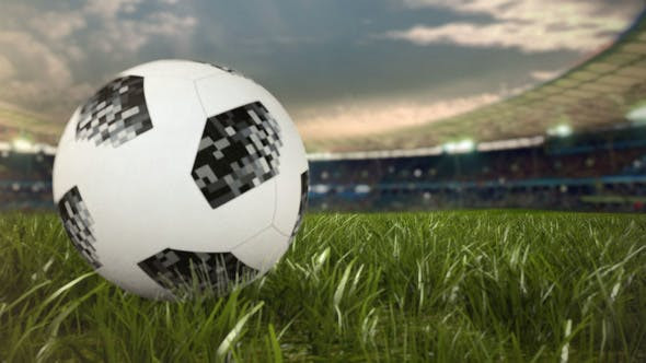 SOCCER BALL ROLLING ACROSS THE FIELD - AFTER EFFECTS PROJECT (VIDEOHIVE)