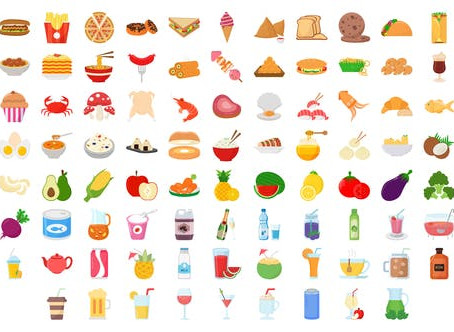 VIDEOHIVE 100 FOOD & DRINKS ICONS