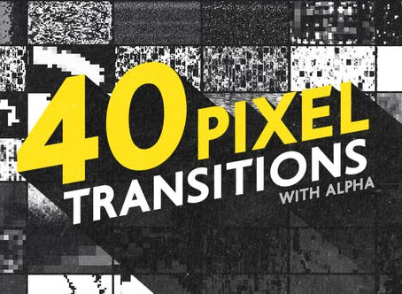 VIDEOHIVE PIXEL TRANSITIONS PACK - MOTION GRAPHIC