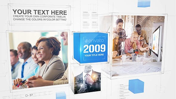 VIDEOHIVE CORPORATE CUBE TIMELINE