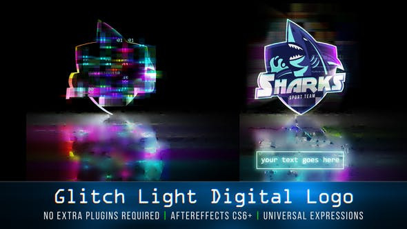 VIDEOHIVE GLITCH LIGHT DIGITAL LOGO