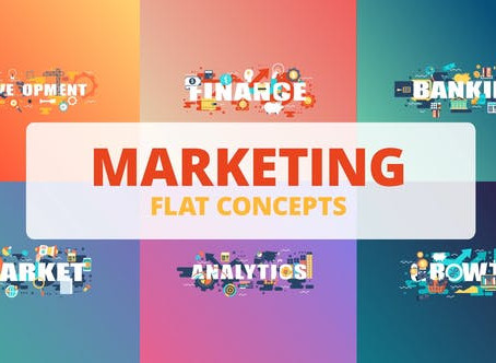 VIDEOHIVE MARKETING - TYPOGRAPHY FLAT CONCEPT