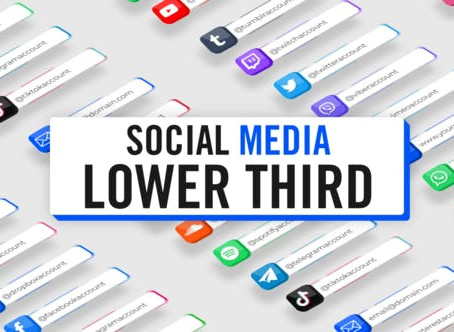 VIDEOHIVE 3D SOCIAL MEDIA LOWER THIRDS