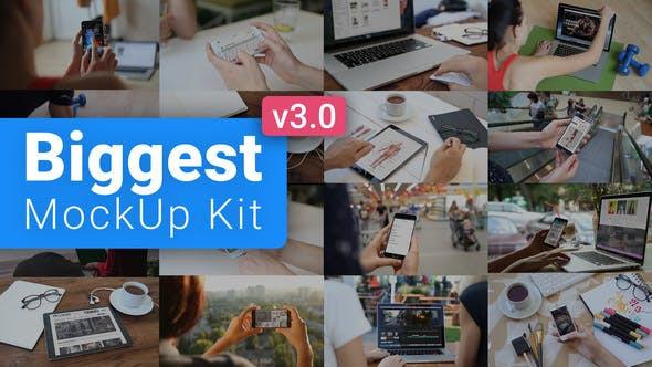 VIDEOHIVE BIGGEST MOCKUP KIT // DIGITAL DEVICE MOCKUPS V3