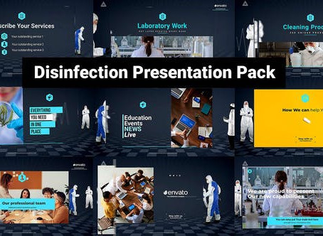 VIDEOHIVE DESINFECTION PRESENTATION PACK