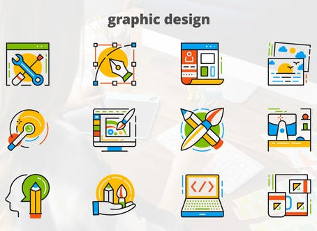 VIDEOHIVE GRAPHIC DESIGN - FLAT ANIMATED ICONS