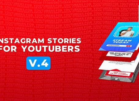 VIDEOHIVE INSTAGRAM STORIES FOR YOUTUBERS V.2 - MOGRT - PREMIERE PRO