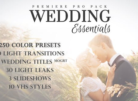 VIDEOHIVE WEDDING ESSENTIALS PACK FOR PREMIERE PRO