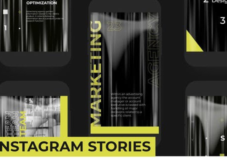 VIDEOHIVE YELLOW STORIES PACK INSTAGRAM
