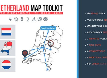 VIDEOHIVE NETHERLAND MAP TOOLKIT