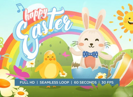 VIDEOHIVE EASTER BUNNY AND CHICKEN DANCE GREETING