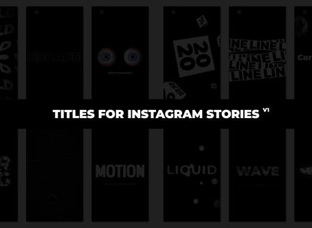 VIDEOHIVE TITLES FOR INSTAGRAM STORIES