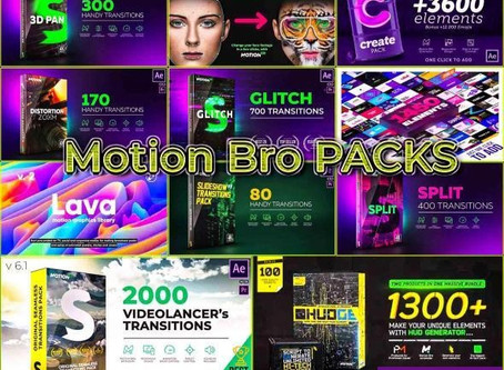 MOTIONBRO TRANSITION AFTER EFFECTS FULL PACKS 2020