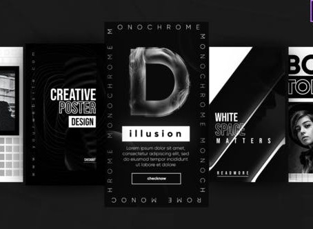VIDEOHIVE INSTAGRAM MONOCHROME STORIES