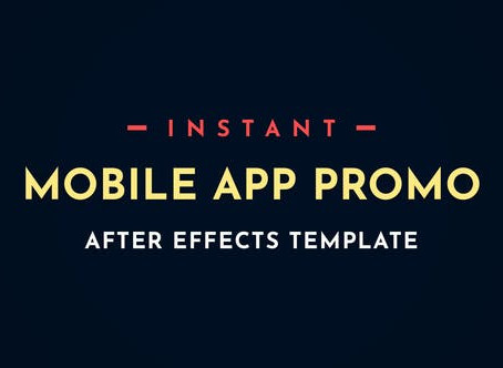 VIDEOHIVE INSTANT APP PROMO MOBILE AFTER-EFFECTS VIDEO TEMPLATE
