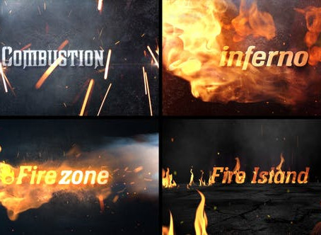 VIDEOHIVE FIRE TITLE STING PACK_PREMIERE PRO