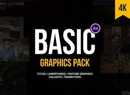 VIDEOHIVE BASIC GRAPHICS PACK FOR VIDEO CREATORS