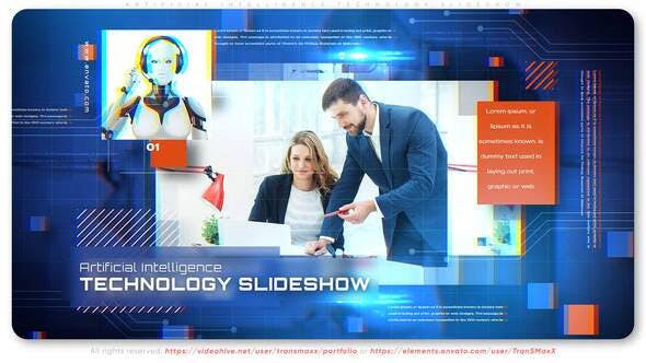 VIDEOHIVE ARTIFICIAL INTELLIGENCE TECHNOLOGY SLIDESHOW
