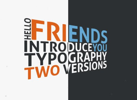 VIDEOHIVE FLYING TYPOGRAPHY