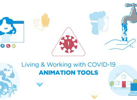 VIDEOHIVE LIVING & WORKING WITH COVID-19 - ANIMATED GRAPHICS